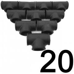 20DB T-IDOM 3/4 COL FEKETE ECO